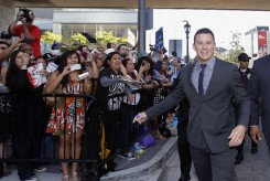 "Channing Tatum greets fans at the premiere of ""Magic Mike"" during the Los Angeles Film Festival in California"