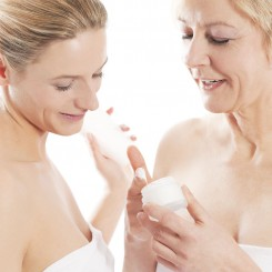 Beauty and skin care in family